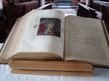 a beautiful old illustrated Bible