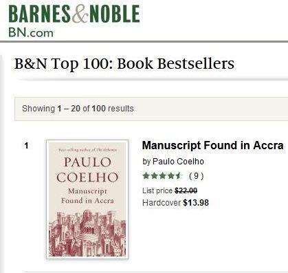 Manuscript Found in Accra - No 1 Barnes & Noble