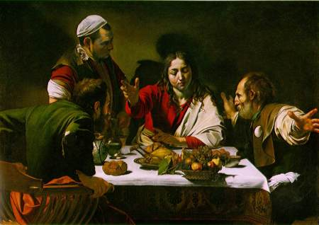 Supper at Emmaus - Caravaggio (1606)