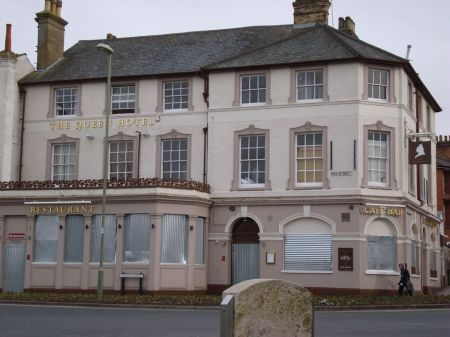 The Queen Hotel, boarded up and derelict