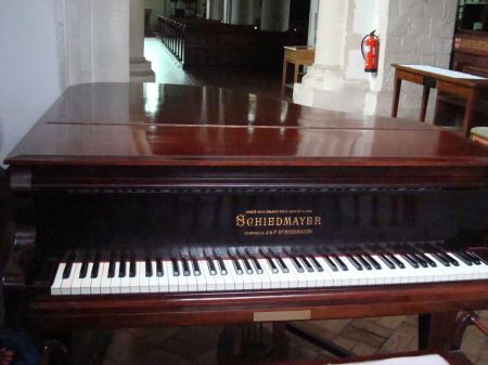 Schiedmayer piano in Godalming Parish Church