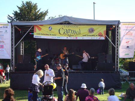 Farnham Carnival main stage