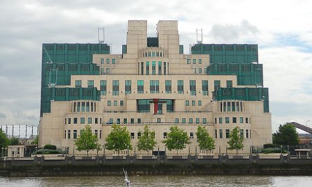 MI6 headquarters by The Thames in London
