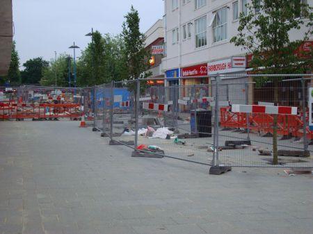 town centre a  building site