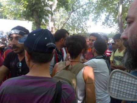Arguing whether to stay in #GeziPark or go to #Taksim ends in chant Everywhere is Taksim, everywhere is resistance!