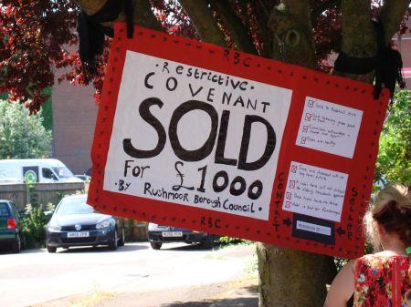Restrictive Covenant Sold for £1000