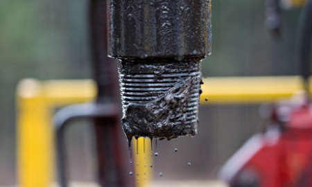 drill pipe at a shale gas operation in Pennsylvania