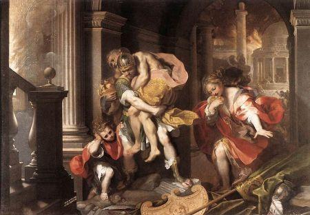 Aeneas' Flight from Troy - Federico Barocci