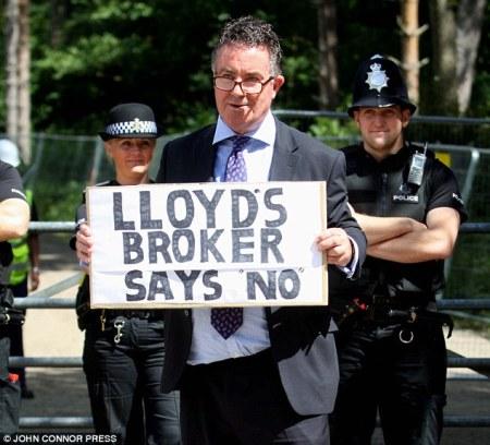 fracking - Lloyds broker says no