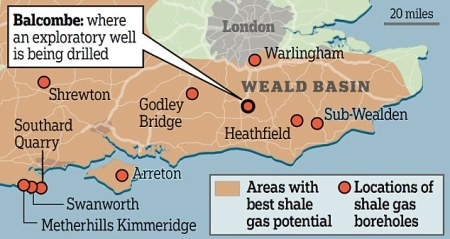 fracking map for south of England