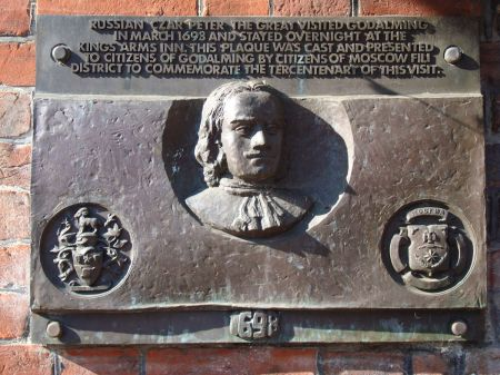 Russian Czar Peter the Great stayed at the Kings Arms Inn in March 1698