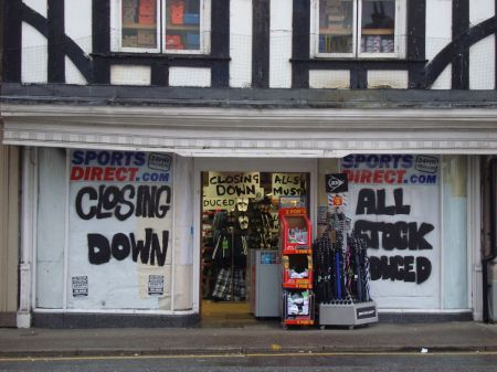 Sports Direct Farnham closing down sale for last two years