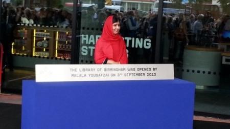Malala opening library