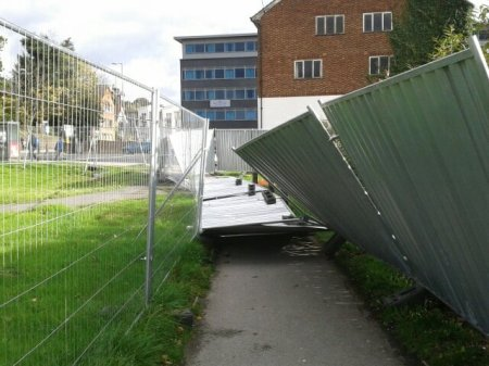 Bride Hall's dangerous fencing unlawfully blocking public right of way