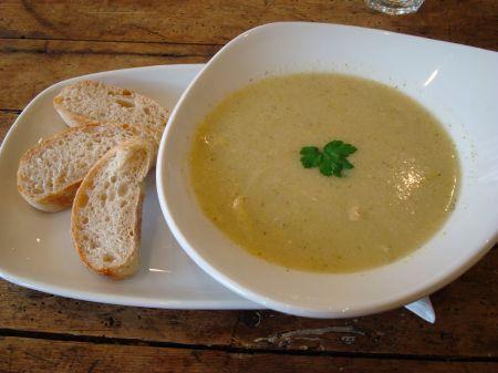 broccoli and Stilton soup