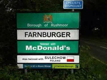 Farnburger twinned with McDonald's