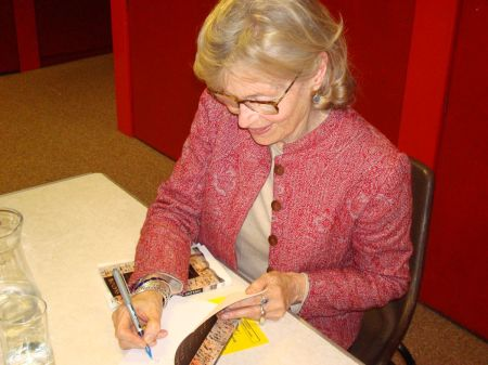 Victoria Brittain signing Shadow Lives