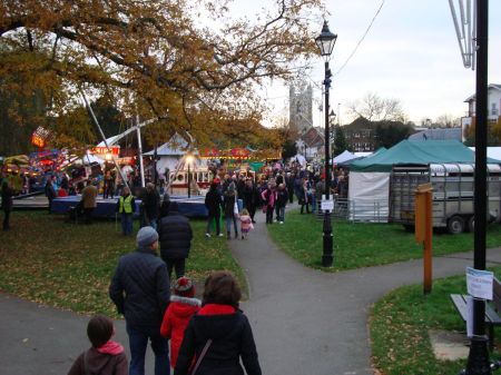 Farnham Christmas Fayre in Gostrey Meadow