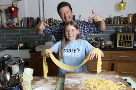 Martha Payne and Jamie Oliver