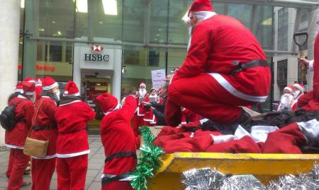 Santa delivers sackfuls of coal to HSBC
