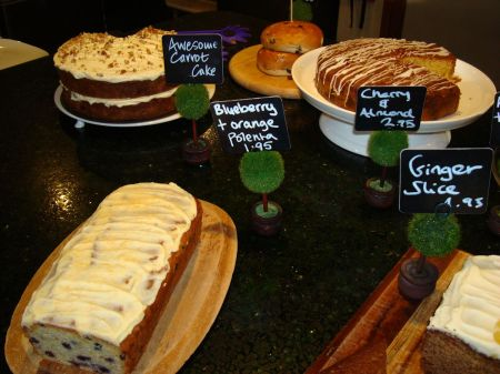 tempting spread of delicious cakes