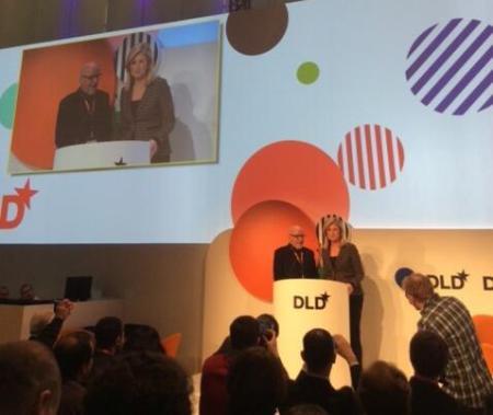 DLD14 - Paulo Coelho and Arianna Huffington
