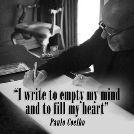 I write to empty my mind and fill my heart
