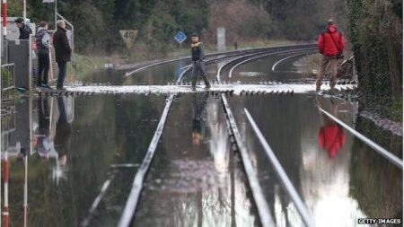 rail lines flooded