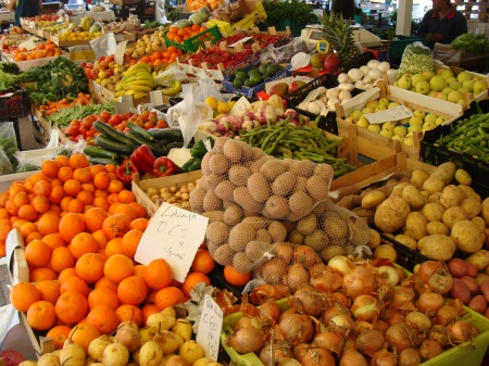 fruit and vegetable stall