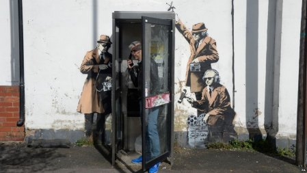 Banksy phonebox