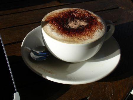 cappuccino at Caffe Macchiato