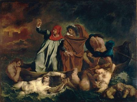 Dante and Virgil in Hell - Eugène Delacroix (1798–1863)