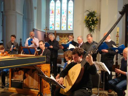 Bach rehearsals in Farnham Parish Church