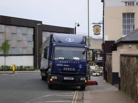 lorry FJ61 BBX illegally parked