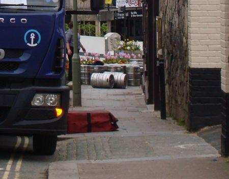 kegs rolled down the street