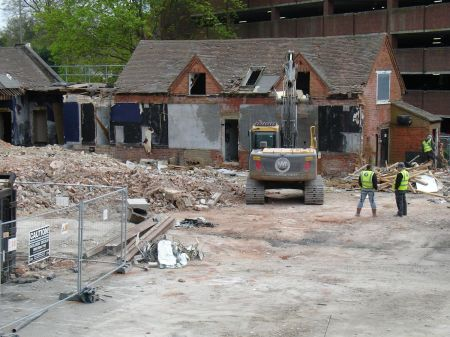 The Tumbledown Dick demolition