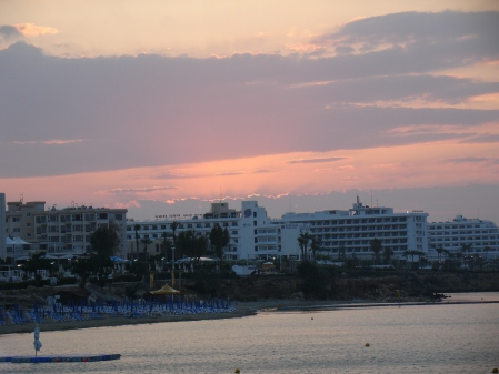 sunset over Fig Tree Bay