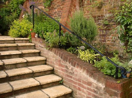 steps leading into back garden