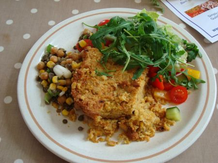 chickpea bake and salad