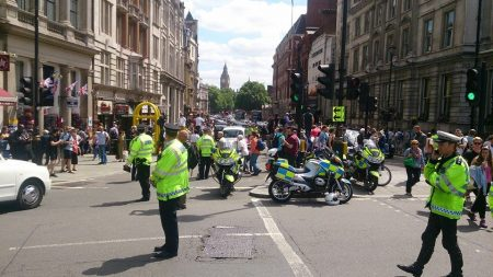 taxi protest Whitehall