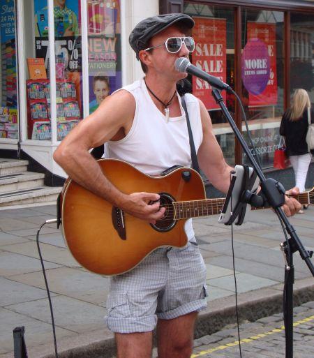 Nigel James playing Guildford High Street