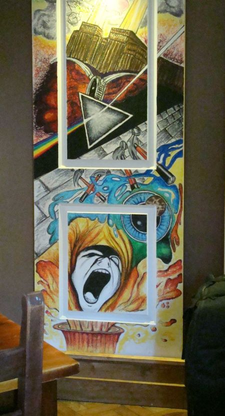 Pink Floyd painted door