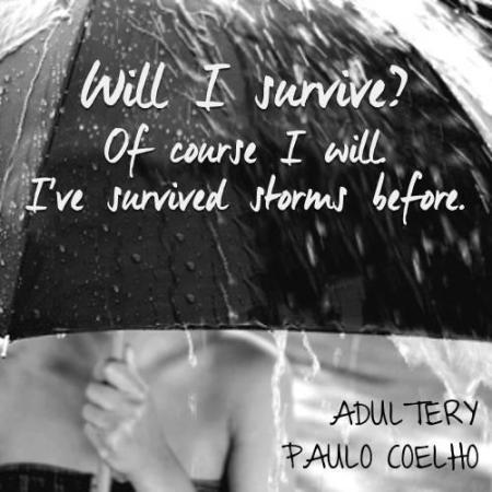 Adultery Will I survive? Of course I will I've survived storms before.