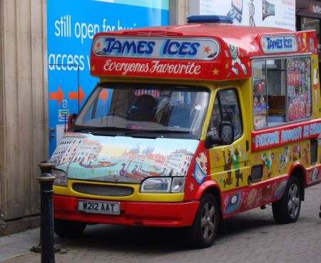 clapped out ice cream van