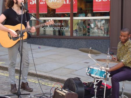 Tomm Blackwood playing bottom end of the High Street