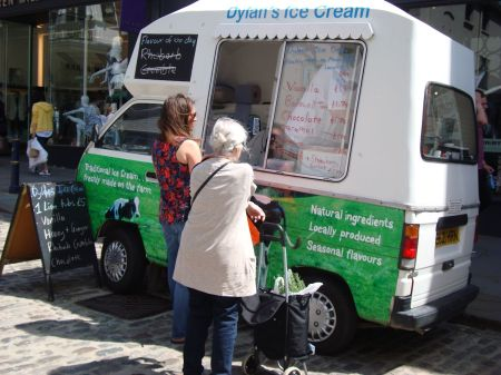 Dylan's ice cream at Guildford farmers market