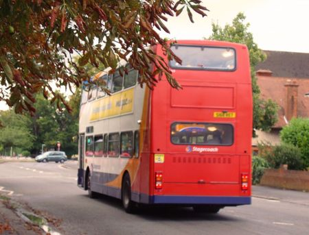 Stagecoach clapped-out double decker bus