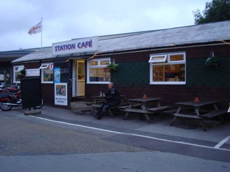 Station Cafe black shed