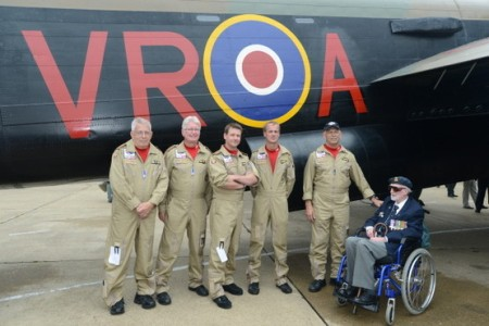 flight crew and veteran before Lancaster VERA