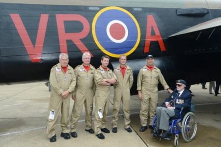 flight crew and veteran before Lancaster VERA